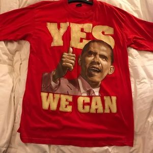 Original YES WE CAN. President Obama T Shirt